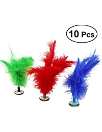 YeahiBaby 10PCS Kicking Shuttlecock Feather Foot Sports Toy Chinese Jianzi (Color al Azar)