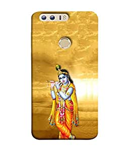 PrintVisa Designer Back Case Cover for Huawei Honor 8 (Krishna Blowing The Flute Design)