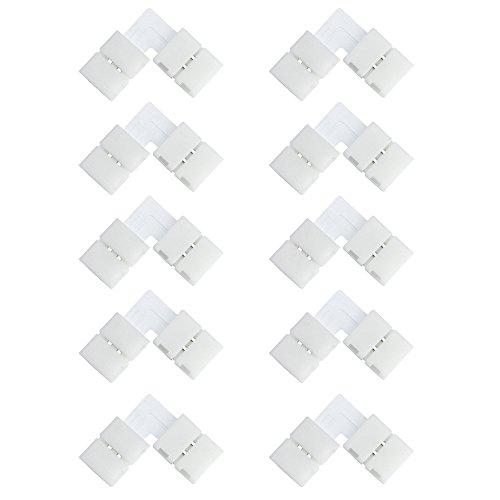 VIPMOON 8 mm/10 mm, 2 bzw. 4 Pins, 5050 3528 RGB, LED-Streifen Verbindungs-Stecker, plastik, 8mm 2pin L-shape Single Color 0.00watts 1.00volts 2-pin Clip