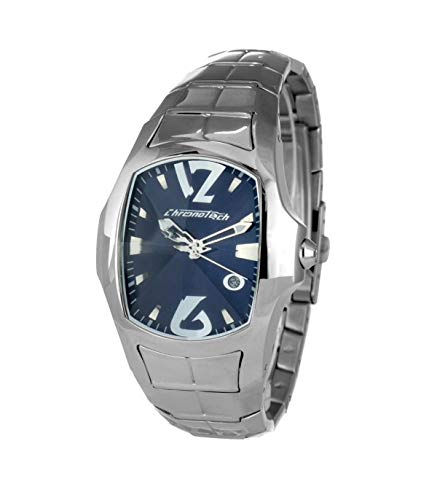 Chronotech orologio analogico quarzo uomo con cinturino in acciaio inox ct7955m-03m