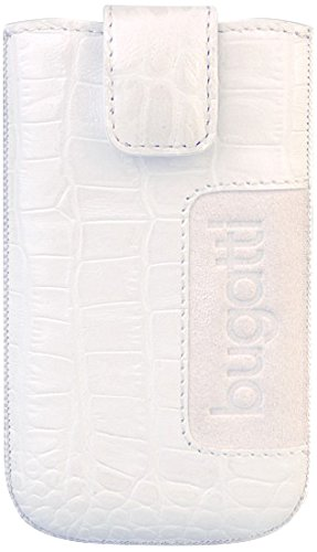 "Bugatti SlimCase ""Croco"" Pochette pour Sony, Samsung, LG, HTC cuir 8,1 cm Blanc"