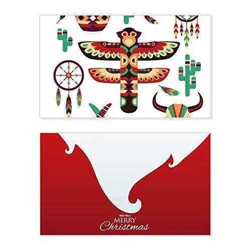 Native American Dream Catcher - Tarjeta de Navidad con mensaje de Navidad