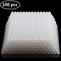 AllRight 100 x 11mm /100 x 7mm Clear Hot Melt Glue Sticks Adhesive for Trigger Electic Pack of 100PCS