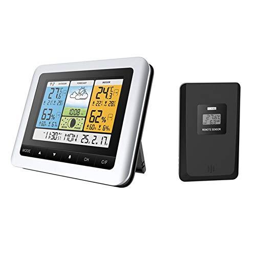 Digital Station Accueil météo sans fil Température et compteur d'humidité avec capteur Predictive extérieur Horloge Affichage la température peut être alimenté par USB, pour intérieur et extérieur
