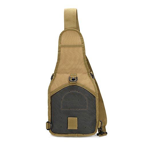ELEAR® Multifunktions Outdoor Casual Brusttasche Umhängetasche Brusttasche im Freien taktisches Rucksack Bodybag Rucksack Schlamm Farbe