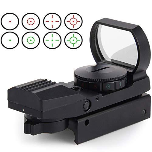 Red Dot Visier Airsoft mit 11mm Schiene Leuchtpunktvisier Rotpunktvisier mit Tactical 4 Reticles für Jagd Softair Pistole