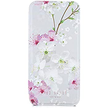 3f6200196 Ted Baker SS17 Folio Style Case for Apple iPhone 8 7 - Fashion Mirror Case  for Professional Women Pretty Flower Floral Print - BROOK - Oriental Blossom