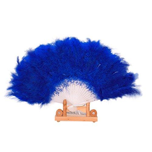 Bauchtanz Kostüm Pharaonen - Sllowwa Klappfächer Mädchen Feder Fächer Vintage Handfächer 1920s Great Mädchen Fasching Kostüm Accessoires Zubehör