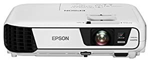Epson EB-W31 3LCD-Projektor (WXGA 1280x800 Pixel, HD-Ready, 3.200 Lumen Weiß- & Farbhelligkeit, 15.000:1 Kontrast, HDMI, MHL, WiFi Optional, Lampenlebensdauer bis zu 10.000 h im Sparmodus) weiß
