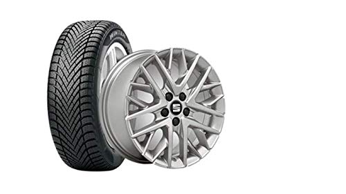 Seat Assise WKR 6,5 x 16 5/100/47 Complet en Aluminium de Roue Gar. 195/55R16 91H, Pirelli Cinturato – S1955516cw