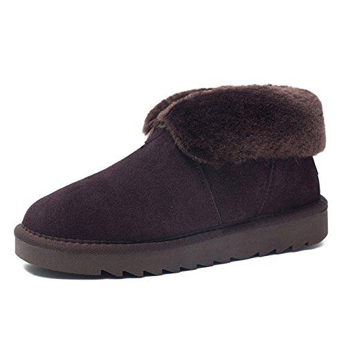 FLYRCX e Boots Snow scarpe Winter 35 europea dimensione corto custodia caldo E cotone con in tubo ladies 40 Slip pelle r6SrwEq5x