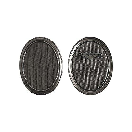 Bn Basis (Jasmin mit Brosche Basis 5 Stueck B10-BN Groesse W5.5XH7cm schwarz Nickel)
