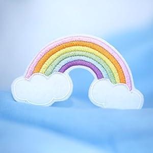 Regenbogen Aufnäher Bügelbild Applikation Aufbügler Patch