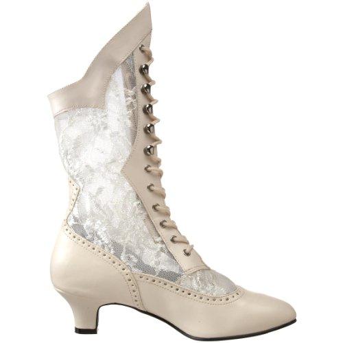Pleaser Cassé Ivory pu Blanc b Dame115 Femme Bottes qzqgr