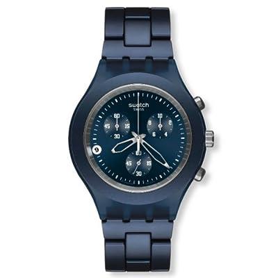 Swatch SVCN4004AG - Reloj analógico de caballero de cuarzo con correa de aluminio azul de Swatch