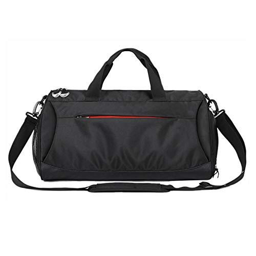 AITOCO–Sacca a tracolla da uomo sport impermeabile leggero borsa da viaggio per riporre asciutto e bagnato vestiti, scarpe dopo fitness, Nero