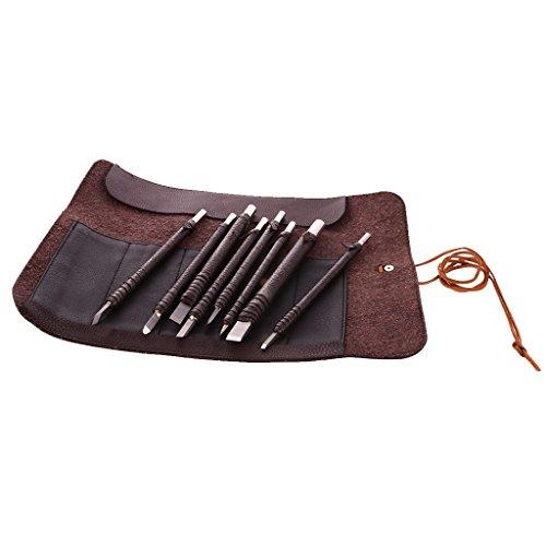 MagiDeal Set Von 8 Meißel handgefertigt Holzschnitzwerkzeug Holz Craft stechbeiteln Tranchiermesser, handgefertigt