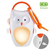 SOAIY Máquina de sonido USB de proyector bebé para dormir, Ruido blanco portátil con 7 sonidos suaves y 3 temporizadores, Búho quitamiedos Relajante para viajar, dormir, cochecito de niño