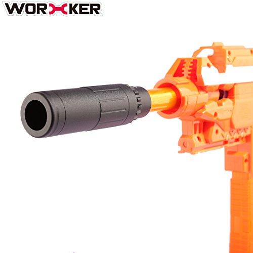 FOKOM WORKER 2St. Upgrade Barrel Vorne Rohr Deko Kappe Zubehör für Nerf -