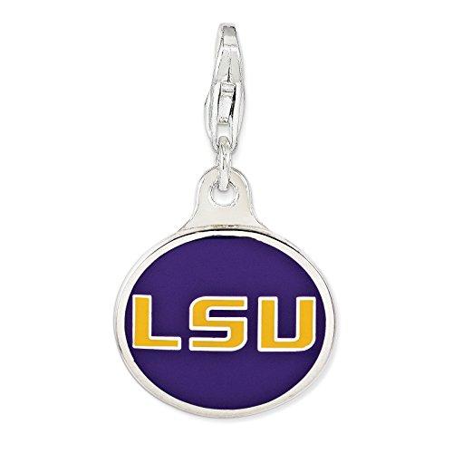 Sterling Silver smalto Louisiana State University. w / catenaccio