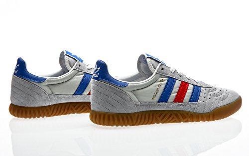 adidas Indoor Super, Scarpe da Fitness Uomo clear onix-blue-red