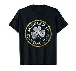 Brennan Irish Drinking Team St Patricks Day Family Surname T-Shirt