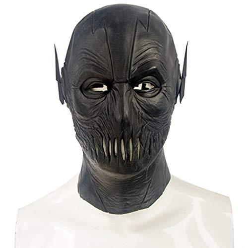 Halloween Christmas Mask Flash Reverse Mann Maske Halloween Bühnenmaske Horror Maske Makeup Erwachsenen Perücke Masken (Color : Black, Size : - Klassische Flash Kostüm