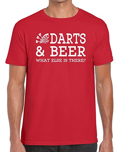 Funky NE Ltd Darts and Beer What Else is There? Tshirt - 100% Cotton - Small to XXL - 9 Colours - Great Gift Idea by