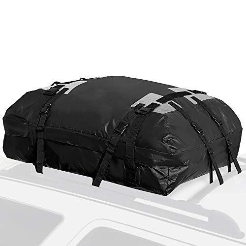 Saturey Dachgepäckträger-Tasche, Car Cargo wasserdichte Gepäck Reisetasche 15 Kubikmeter für Limousine, SUV & mehr