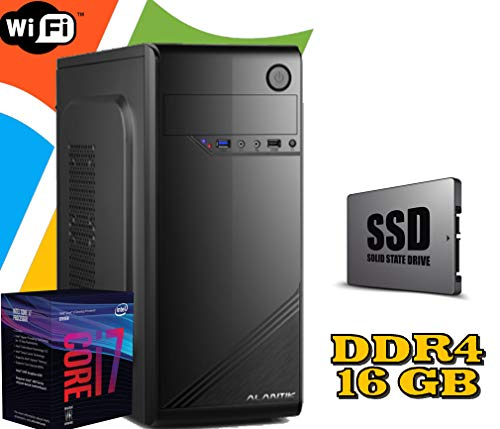 PC DESKTOP FISSO Intel i7 8700 / 16GB RAM DDR4 / SSD 480GB HD 1TB / WI FI / MASTERIZZATORE LG / LICENZA WINDOWS 10