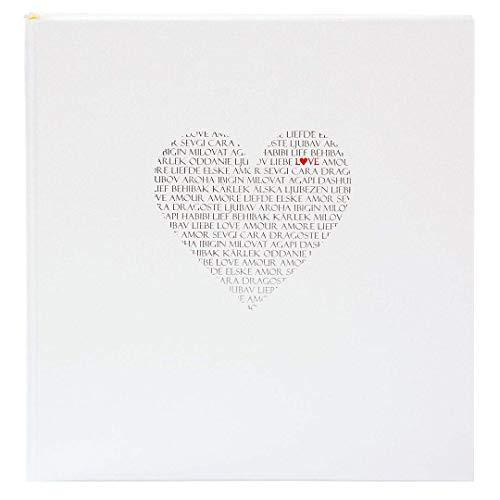 Goldbuch Hochzeitsalbum, Love, 30 x 31 cm, 60 weiße Seiten mit Pergamin-Trennblättern, Beschichtetes Papier mit Silber- und Goldprägung, Perlmutt, 08080