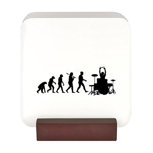 Evolution of a Drummer Design 4Untersetzer-Set mit Ständer