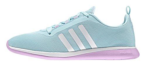 adidas Cloudfoam Pure W, Chaussures de Sport Femme Bleu / blanc (bleu zest / blanc Footwear / orchidée claire (light orchid))