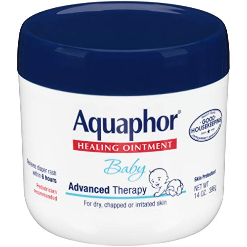 Aquaphor Baby Healing Ointment Diaper Rash and Dry Skin Protectant, 14 oz Jar by Aquaphor -