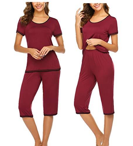 Unibelle Damen Top und Zweiteilig Sleepwear Pyjama Set Navy XXL Navy Set