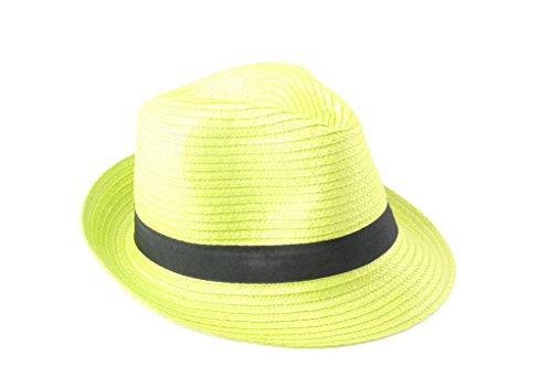 Dantiya Unisexe Panama Chapeau de Soleil Plage en Été Classique Vert