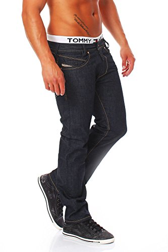 DIESEL - Jeans da Uomo IAKOP 88Z - Regular Slim - Tapered - Non Stretch - blu, W33 / L32