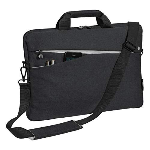 """PEDEA Laptoptasche """"Fashion"""" Notebook-Tasche bis 17,3 Zoll (43,9 cm) Umhängetasche mit Schultergurt, Schwarz"""