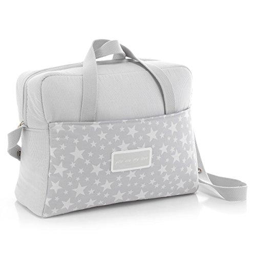 Cambrass Maternity Bag (17 x 39 x 32 cm, Star Grey)