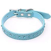 PU-Leder-Niet Spiked Studded Dog Dog Hundehalsb/änder Halsband Barlingrock-Welpen-Halsb/änder f/ür kleine Hunde verstellbare Halsketten f/ür Doggy