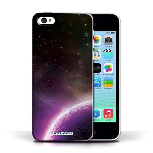 Kobalt® Imprimé Etui / Coque pour Apple iPhone 5C / Planète Orange conception / Série Cosmos Planète Pourpre