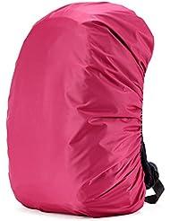 Cuckoo 50-60L Nylon impermeable Mochila Cubierta de lluvia mochila Resistir al agua Cubierta de peso ligero paquete para ir de excursión Camping Viajes Actividades al aire libre, rosa