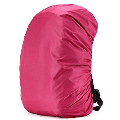 Cuckoo 70L Nylon impermeabile Zaino Copertura Rain Cover zaino Copertura leggera Copri copertura resistente all'acqua per escursionismo Camping che viaggia in attività all'aperto, rosa