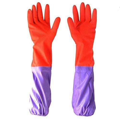 Buwico® antideslizante impermeable largo guantes de goma guantes de jardín