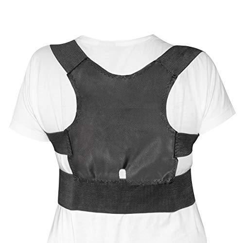 Navaris corrector de espalda - Corrector de postura para espalda y hombros - Soporte ajustable de espalda para hombres mujeres y niños L/XL