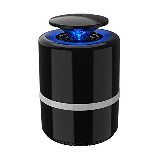 xinyu Elektronische Insektenvernichter UV-Licht Sauggebläse Mit Smart Light Control (Kills Fliegen Mücken Und Moskitos) Mit USB Powered Für Indoor Home Office,Black