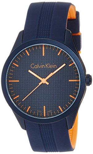 Di gomma analogico al quarzo Calvin Klein Unisex-Guarda K5E51GVN