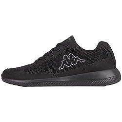 Kappa FOLLOW OC | Freizeit-Sneakers für Frauen und Männer | super-leicht, modisch und zeitlos | angenehmes Tragegefühl | atmungsaktiv | Schwarz (Black/Grey 1116), Größe 43 EU