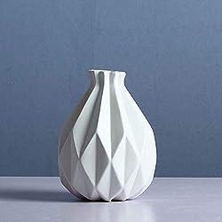 Light luxury vase FloreroJane Moderno Jarrón De Cerámica Europea Decoración Salón Arreglo Floral Matte Creativo Rústico Blanco Decoración del Hogar