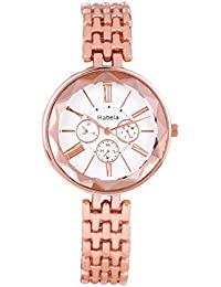 Rabela Women's Analogue White Dial Watch RAB-238